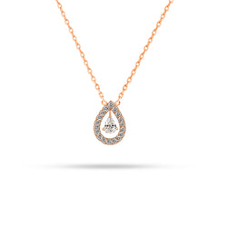 Floating Pear Diamond Pendant