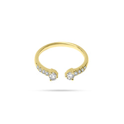 Twin Round Diamond Ring
