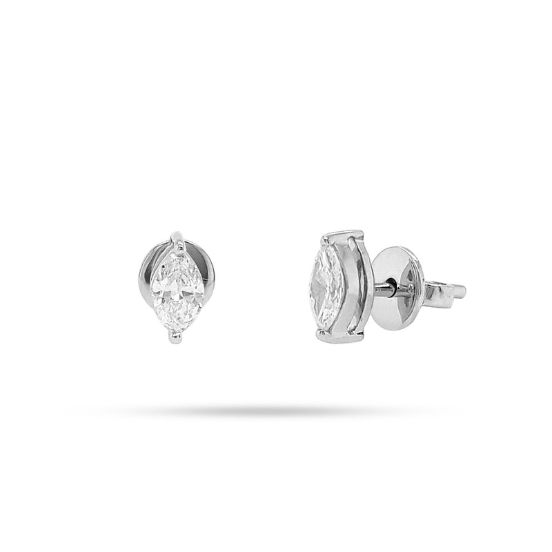 Solitaire Marquise Stud Earrings