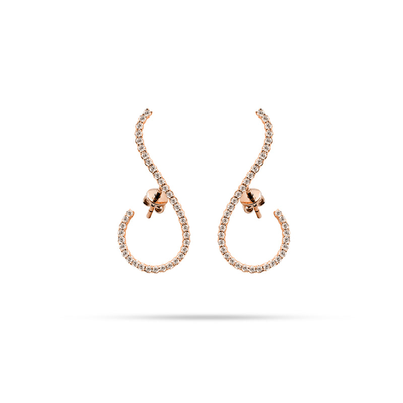 Arc Round Diamond Earrings