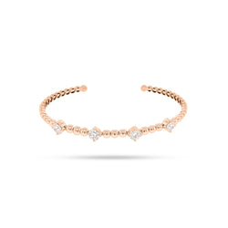 Open Round Diamond Bangle