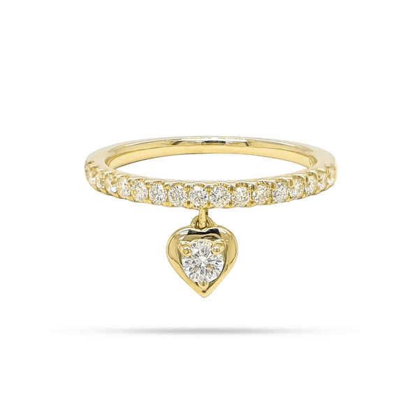 Solitaire Round Diamond Dangling Ring
