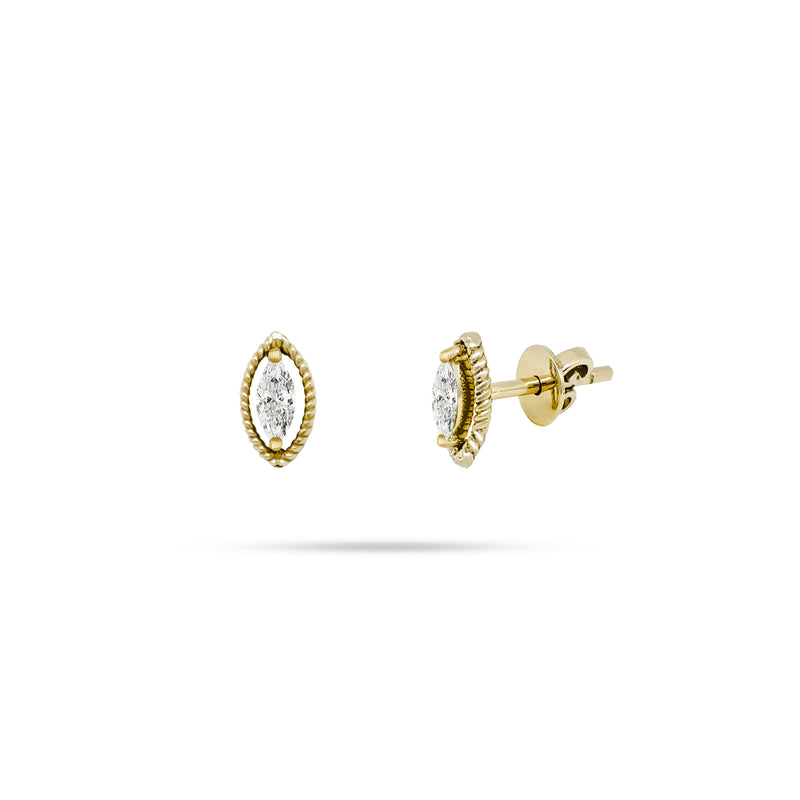 Rope Marquise Diamond Earrings
