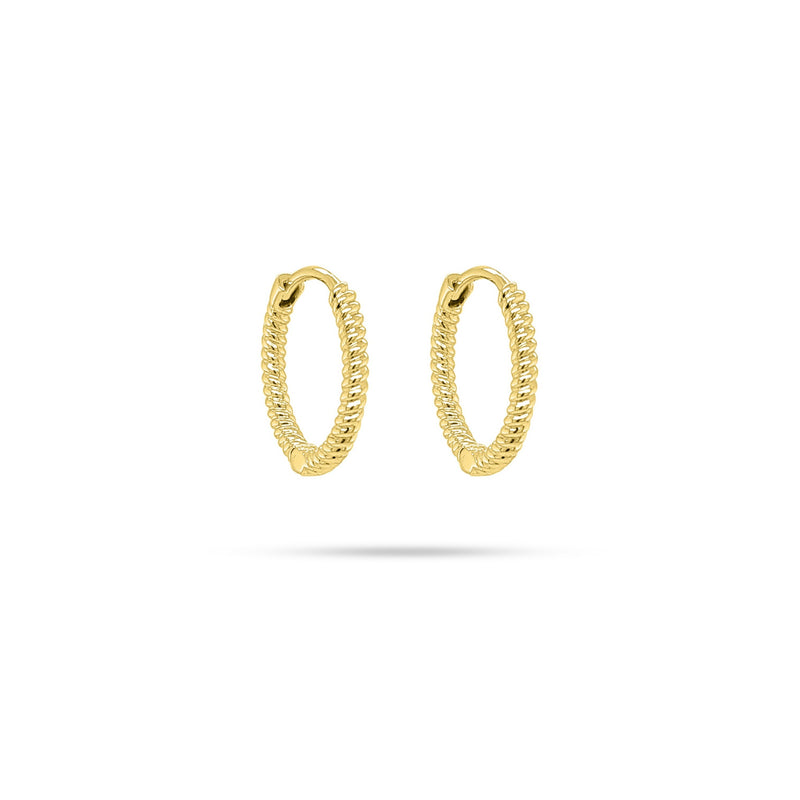Rope Huggie Gold Earrings