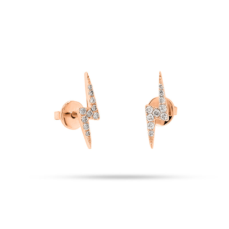 LIGHTNING ROUND DIAMOND EARRING