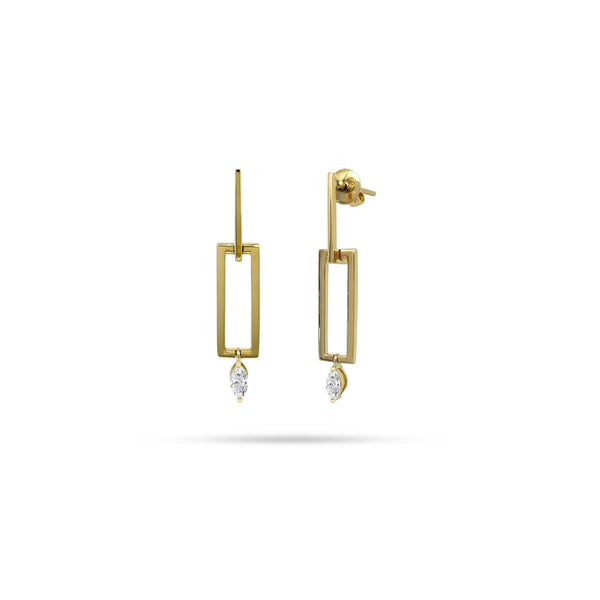 Link Marquise Diamond Earrings