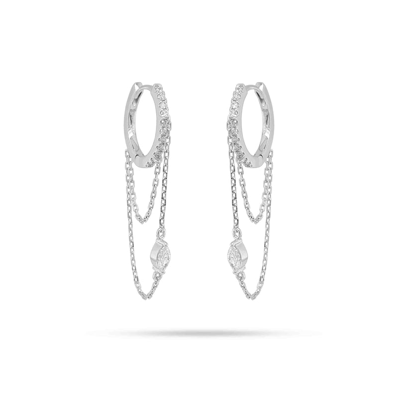 Marquise Diamond Chain Earrings