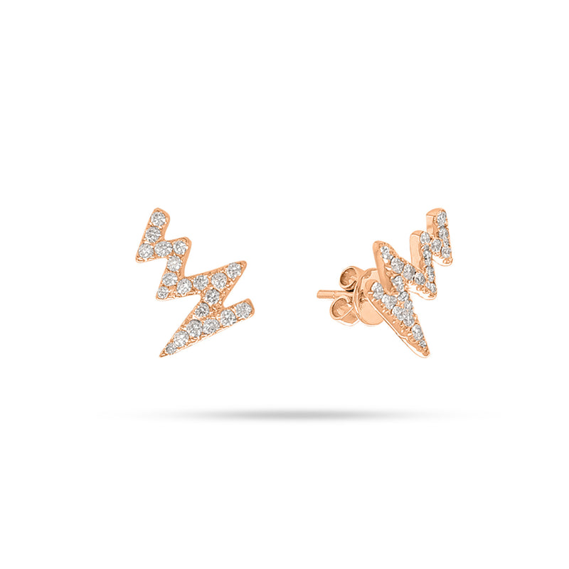 Heartbeat Round Diamond Earrings
