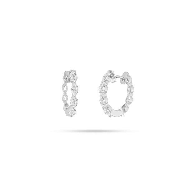 HOOP MARQUISE DIAMOND EARRINGS