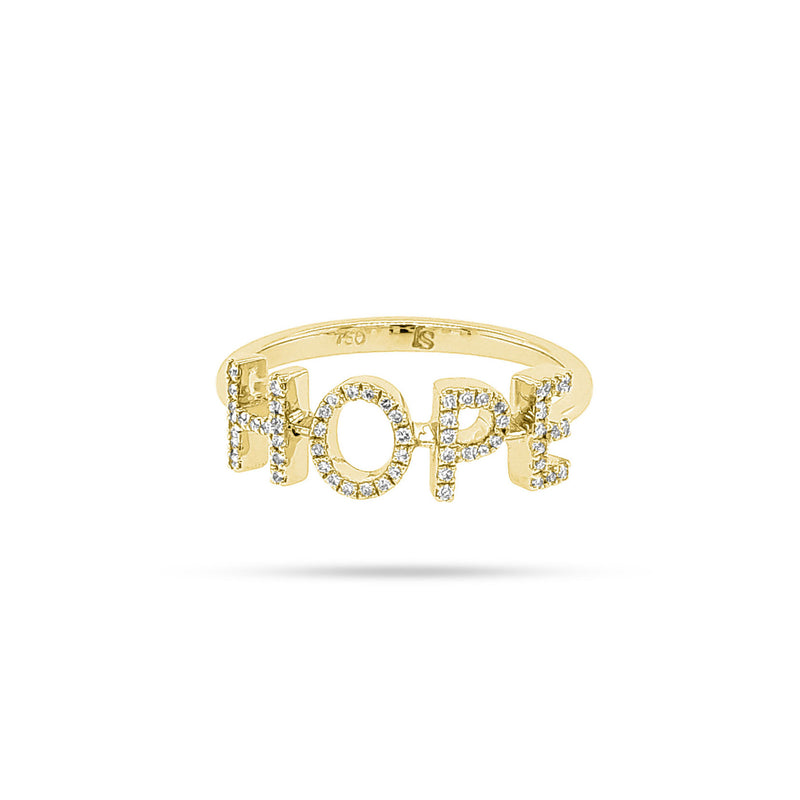 Personalized Four Letter Diamond Ring
