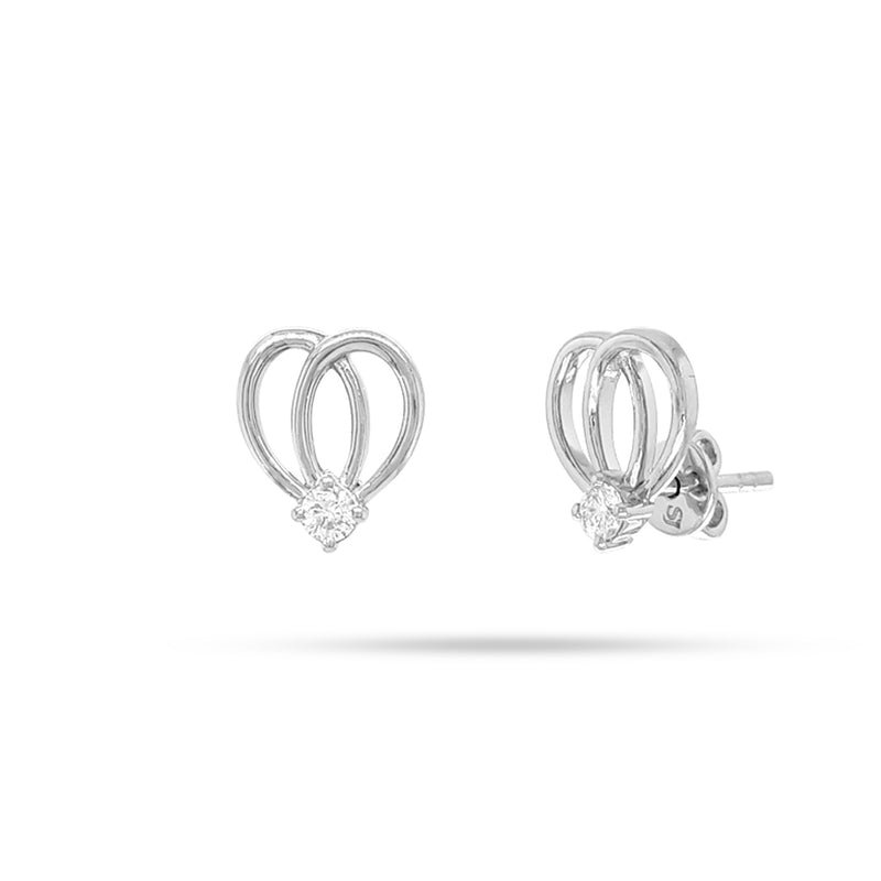 Bow Round Diamond Earrings