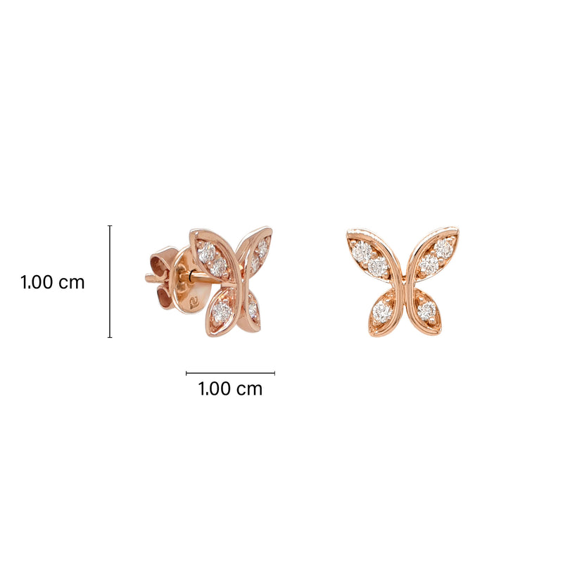 Butterfly Round Diamond Earrings