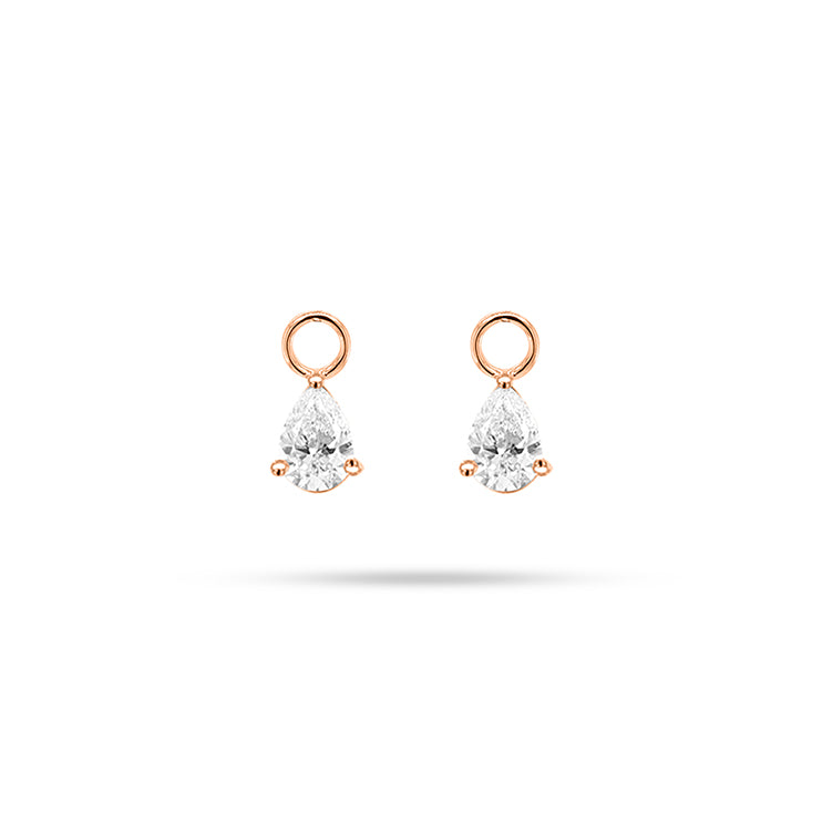 Detachable Pear Diamond Only Drops