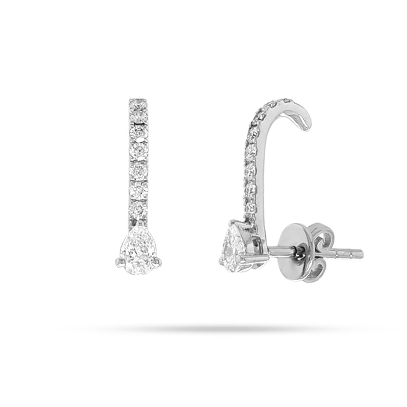 Pear Round Diamond Earcuff