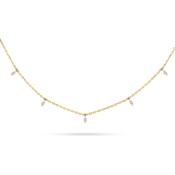 DANGLING MARQUISE DIAMOND CHOKER