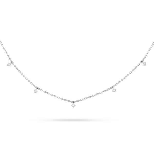 Dangling Round Diamond Choker