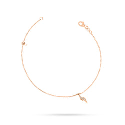 Lightning Round Diamond Anklet