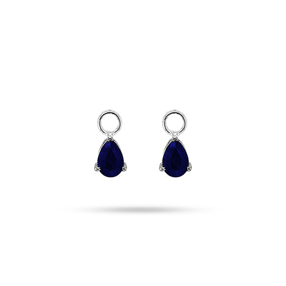 DETACHABLE BLUE SAPPHIRE PEAR ONLY DROPS