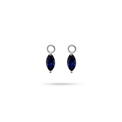 Detachable Blue Sapphire Marquise Only Drops