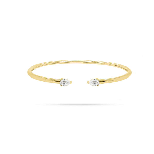 Spring Pear Diamond Bangle