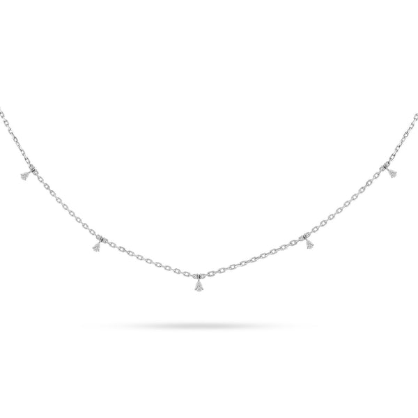 DANGLING PEAR DIAMOND CHOKER