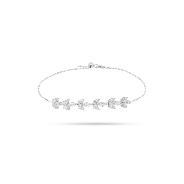 Solitaire Pear and Marquise Diamond Bracelet