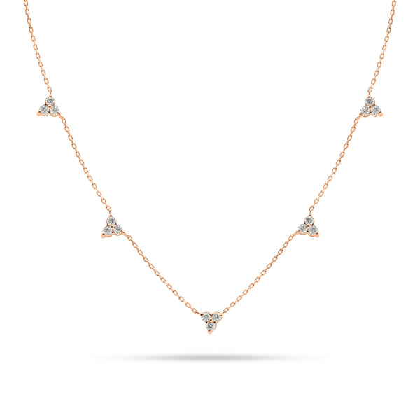 Round Diamond Trio Choker