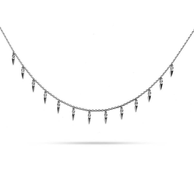 Spike Round Diamond Choker