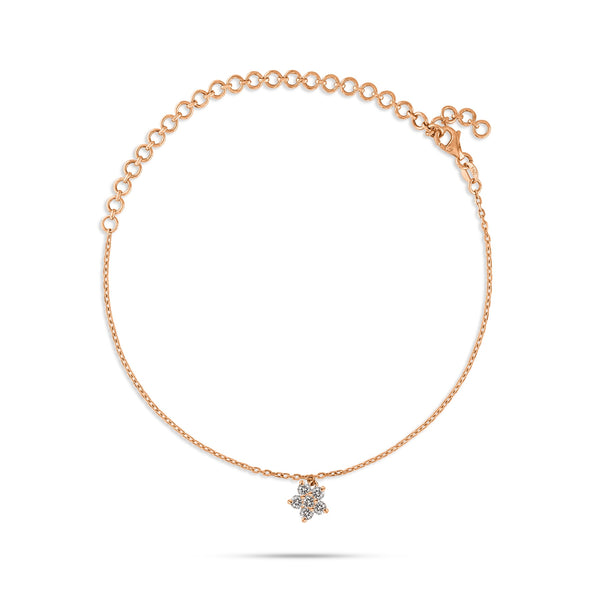 Bloom Round Diamond Anklet