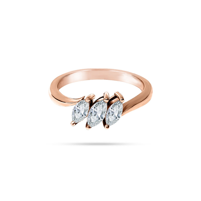Trio Marquise Diamond Ring