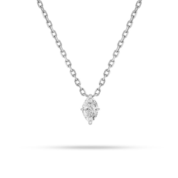 Marquise Solitaire Pendant