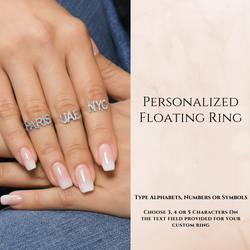 Personalized Floating Diamond Ring