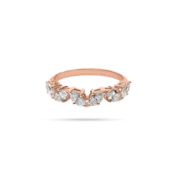 Messy Marquise Diamond Ring