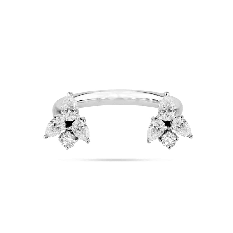 Cluster U Shaped Diamond Ring