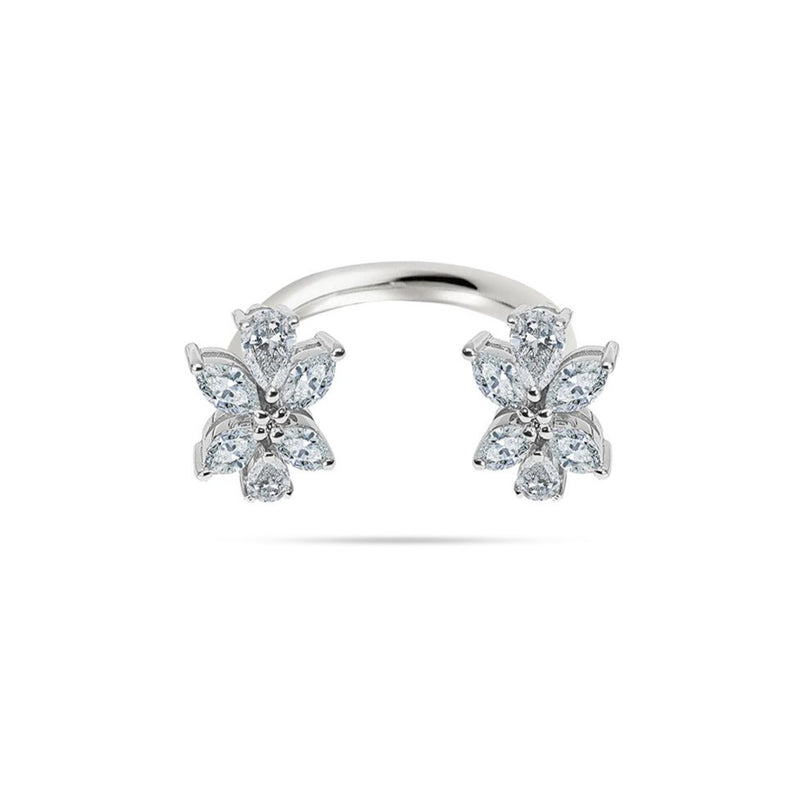 Cluster Pear and Marquise Diamond Ring