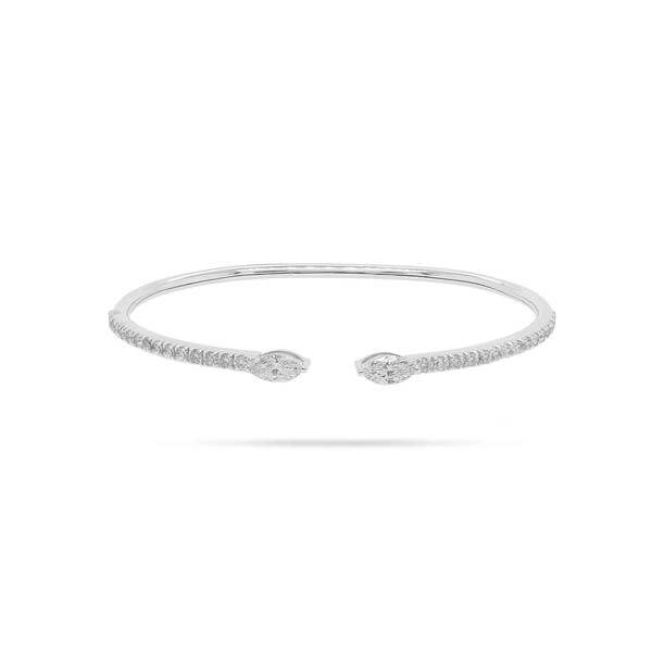 Solitaire Marquise Diamond Spring Bangle