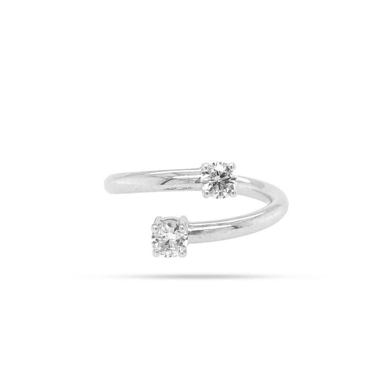BLOOMING TWIN ROUND DIAMOND RING