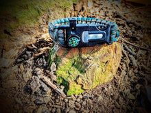 Load image into Gallery viewer, Fire Starter Paracord Deluxe Survival Bracelet - Grimworkshop