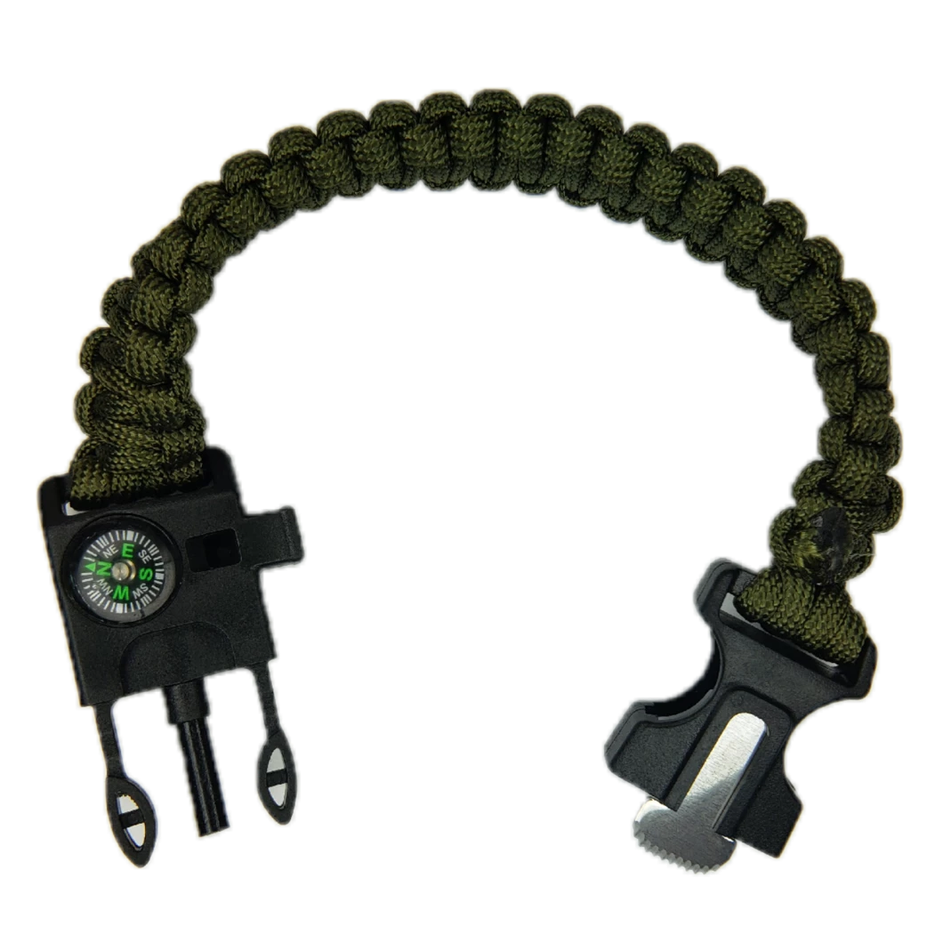Fire Starter Paracord Deluxe Survival Bracelet - Grimworkshop