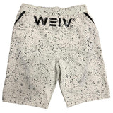 White Splatter Logo Shorts - AAA Discount Store
