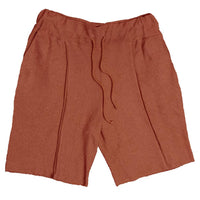 FRENCH TERRY SHORTS- RUST - AAA Discount Store