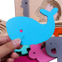 Children's Animal 3D Puzzles Wooden Toys - AAA Discount Store