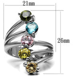 Women Stainless Steel Cubic Zirconia Rings TK2876 - AAA Discount Store