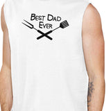 Best BBQ Dad Mens White Cotton Muscle Tanks - AAA Discount Store