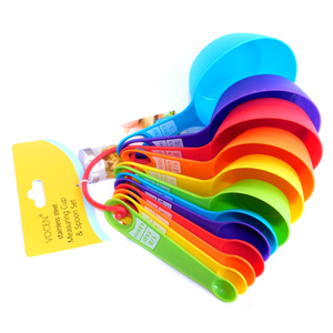 Colourful Measuring Cup & Spoon Set 12 pcs - bakeware bake house kitchenware bakers supplies baking