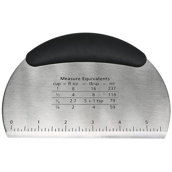 Steel Scraper with Measurements - bakeware bake house kitchenware bakers supplies baking