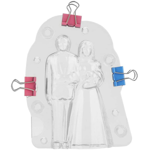 Acrylic Chocolate Bride & Groom Mold - bakeware bake house kitchenware bakers supplies baking