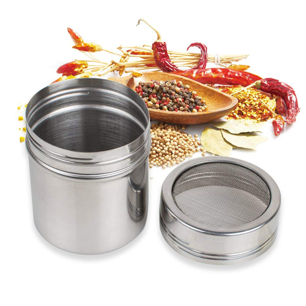 Stainless Steel Shaker for Icing Sugar & Flour Small - bakeware bake house kitchenware bakers supplies baking