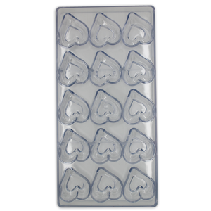 Acrylic Heart Chocolate Mold - bakeware bake house kitchenware bakers supplies baking