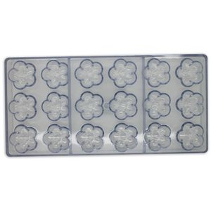 Acrylic Flower Chocolate Mold - bakeware bake house kitchenware bakers supplies baking